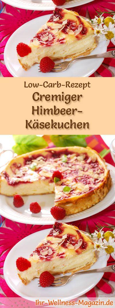 Cremiger Low Carb Himbeer-Käsekuchen – Rezept ohne Zucker – Low Carb Kuchen Rezepte