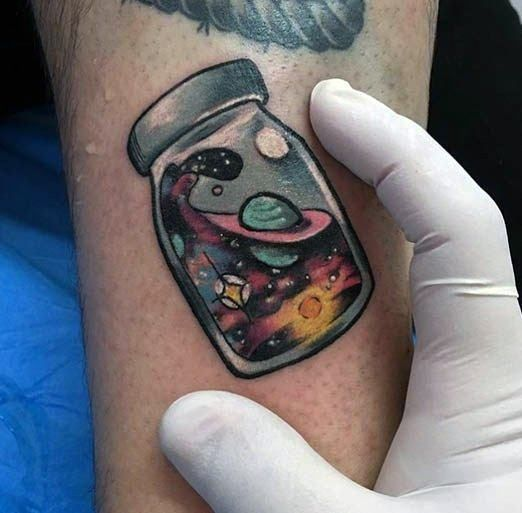 40 Little Colorful Tattoos for Men – Vibrant Ink Design Ideas – # Colorful #Design Ideas # for #jar #small