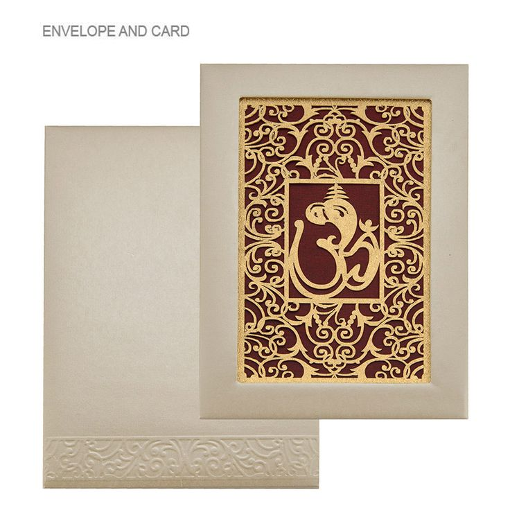 W 5380 A conspicuous hindu wedding invitation cards