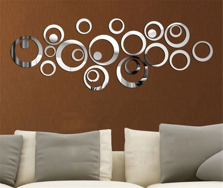 Miroir autocollant autocollant 3d design moderne for Decoration murale chambre a coucher