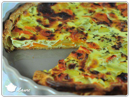 Quiche légumes (courgette et carotte) et fromage blanc