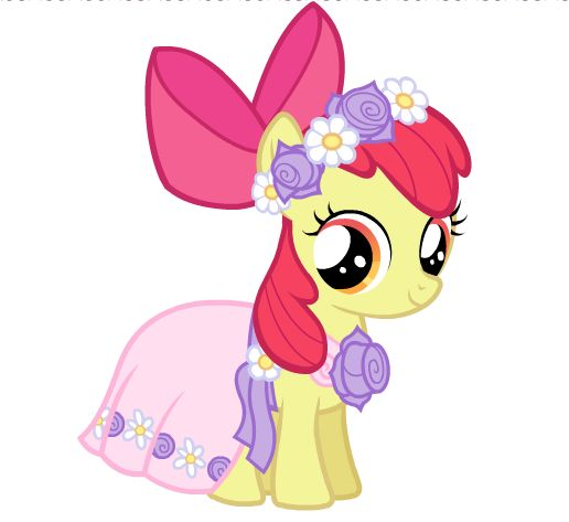 My Little Pony Wedding Flower Fillies: Apple Bloom At The Wedding By Sky-Winds On DeviantART