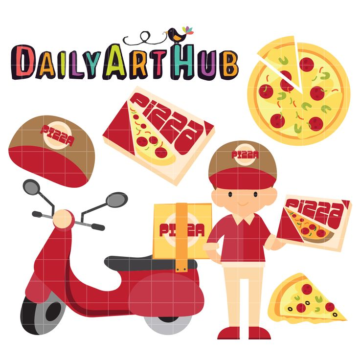 FREE Pizza Guy Clip Art Set