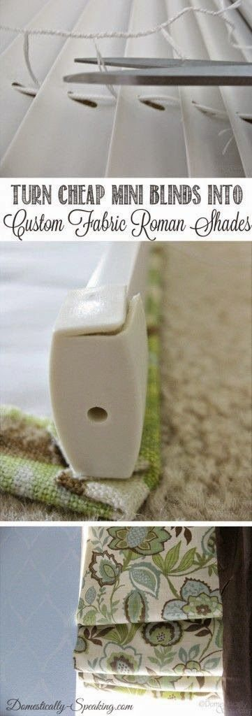 Best DIY Projects: Mini-Blinds to Roman Shades: Turn those ugly mini-blinds into custom fabric roman shades