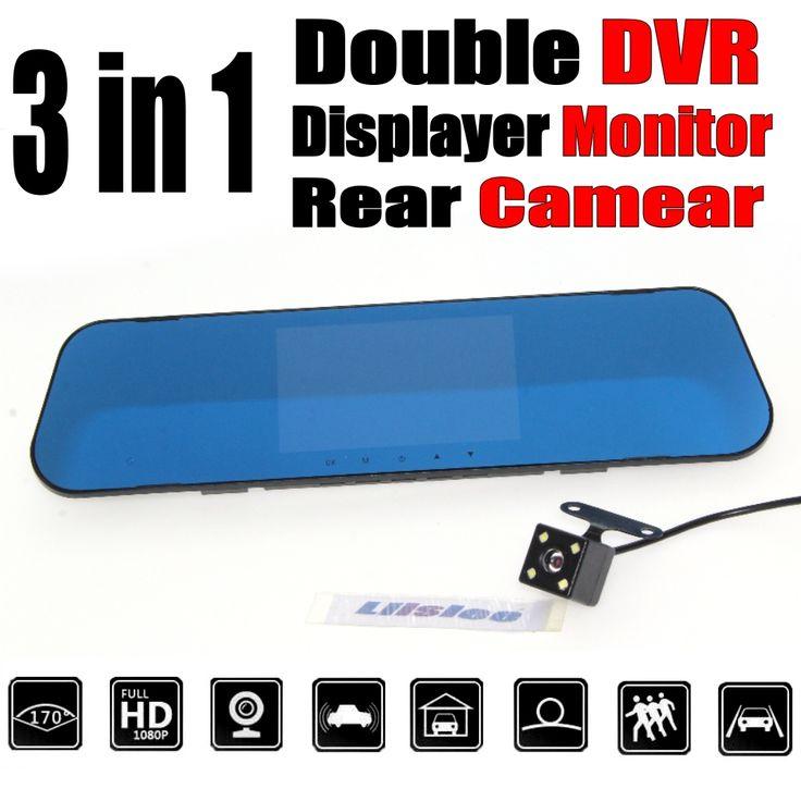 Car BlackBox DVR Dash Camera Driving Video Recorder Front Rear Double Camera DVR For Citroen C2 C3 C4 C5 C6 C8 Elysee