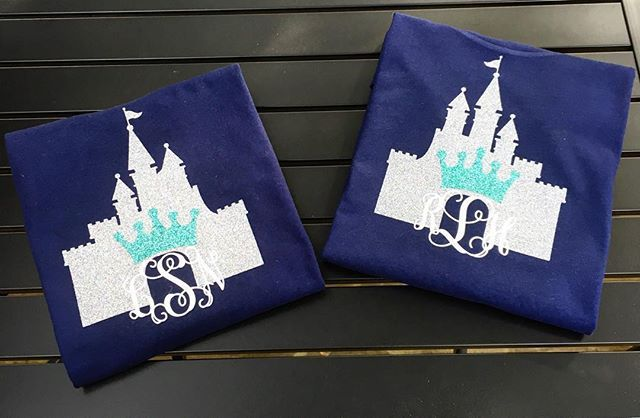 Perfect castle shirts for your trip to Disney!🐭 $22 🏰 #monogrammit #monograms #disney