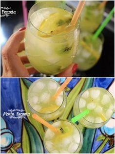 Bebidinha de kwie com limão e soda é uma prima irmã da Caipirinha, só que mais leve! Uma bebida suave, feita com o limão é siciliano e refrigerante soda limonada, muito gostosa!