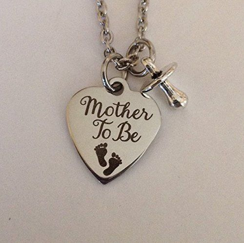 Handmade Jewelry Mother to be necklace - expecting - pregnancy - push gift - new…