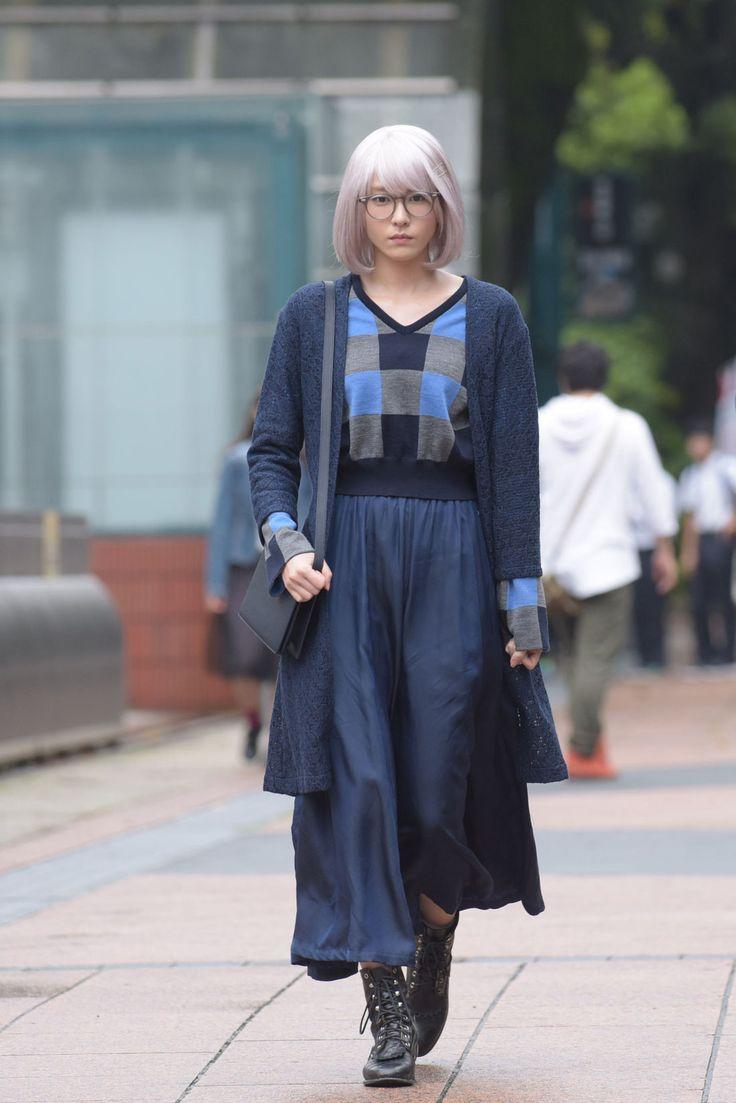 「「掟上今日子の備忘録」第2話 Brand: Toga Blue Cropped Plaid Wool-blend Sweater toga