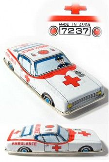 Japanese Ambulance Car Vintage Toy