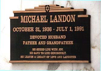 """MICHAEL LANDON'S GRAVE  (Star of """"Bonanza"""", """"Little House on the Prarie"""", and """"Highway to Heaven"""")"""