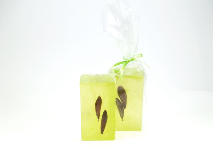 Oil soap with natural oil leaves