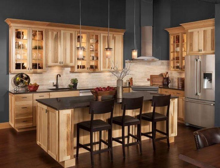 carolina hickory kitchen cabinets in 2020 hickory kitchen farmhouse style kitchen hickory on farmhouse kitchen hickory cabinets id=87087