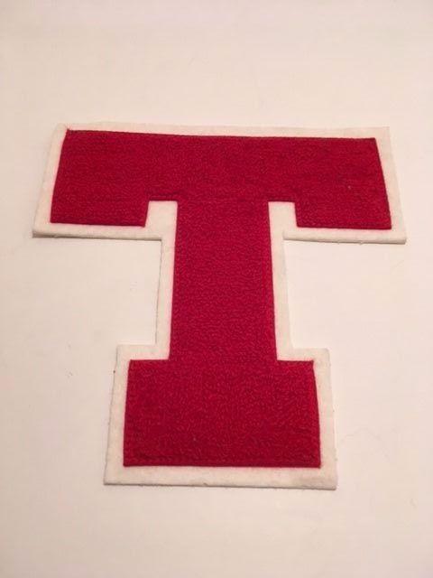 Red T Letterman Letter - For Varsity Letterman Jacket NOS NEW Chenille