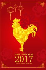 Chinese New Year design for Year of rooster