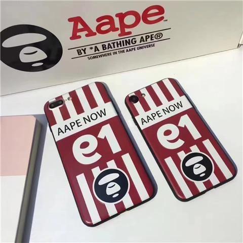 【海外直送 送料無料】Aapeファッションブランド猿サルiPhone8/7s/7splus ハードケース イニシャル エーエイプ アイフォン7s/7 iPhone6s/7プラスカバー 立体