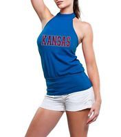 Junior Cut Ladies Kansas Jayhawks KU Halter Top Shirt