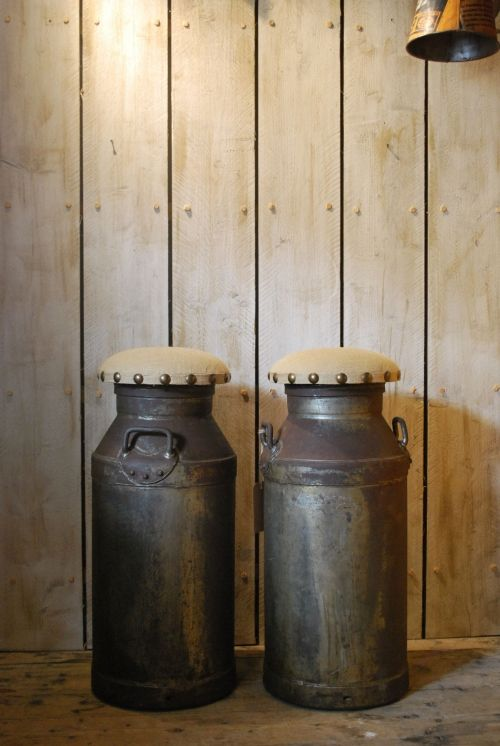 Milk Churn Bar Stools Cream Cans Pinterest Stools