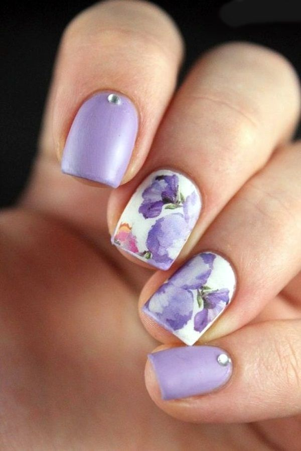 Cute Flower Nail Designs (19) - 101 Cute Flower Nail Designs That're Too Attractive To Handle Dope