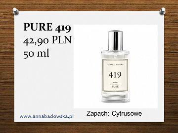 Perfumy PURE 419 damskie cytrusowe
