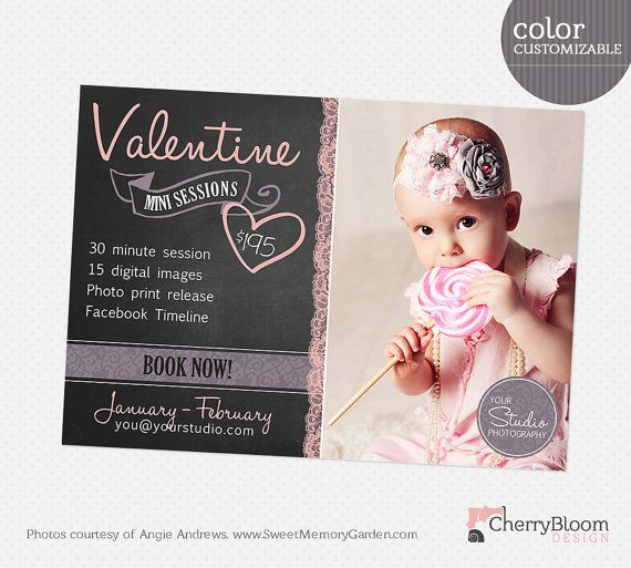 Valentine Mini Session Template for by CherryBloomDesign on Etsy, $8.00
