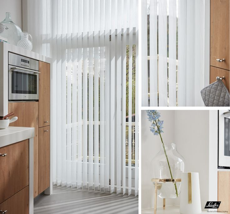 Pour que votre cuisine garde la ligne, jouez la verticalité avec les stores #deco #luxaflex