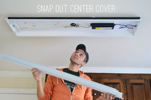 Replacing outdated fluorescent light fixture