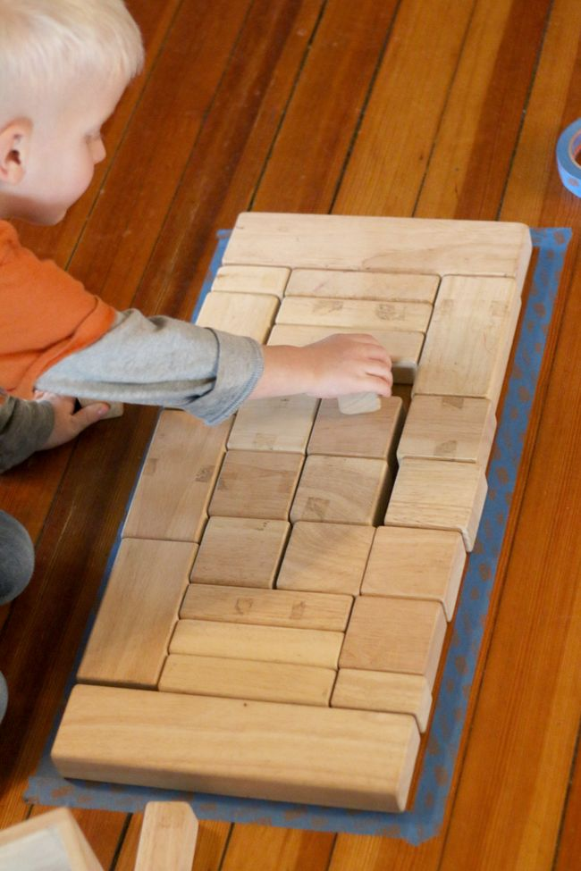 An exercise for the kids to try using blocks