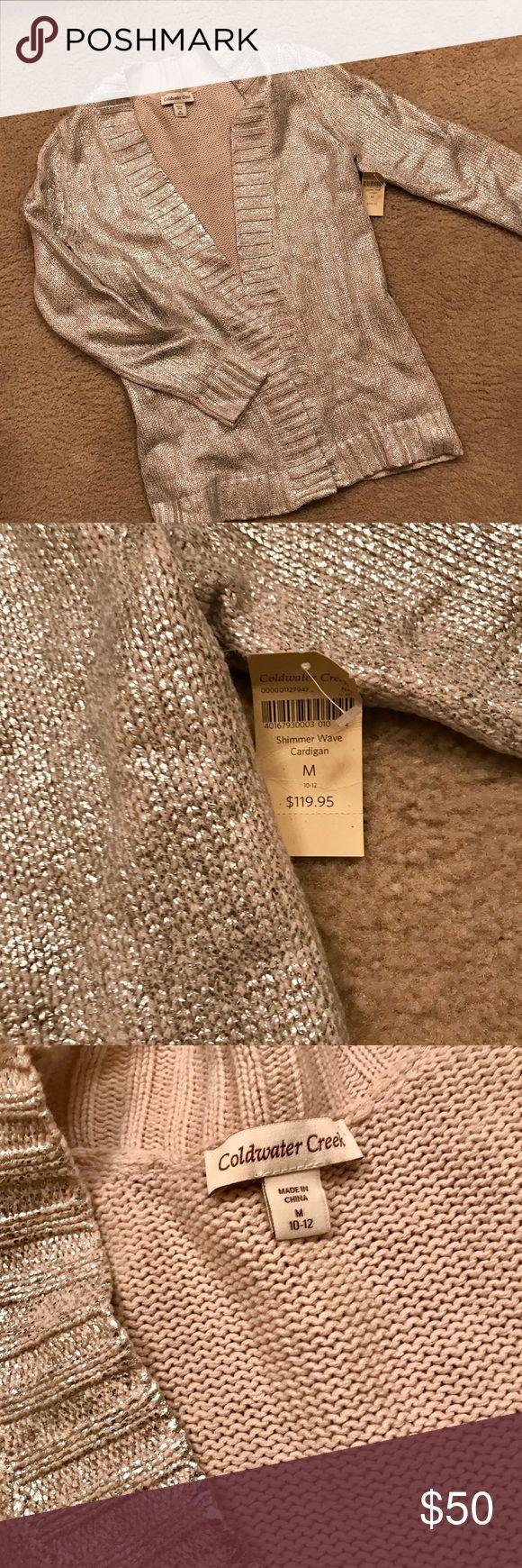 Cold Water Creek Cardigan. NWT Beautiful mid weight metallic cardigan. Never worn. Size 10-12 Coldwater Creek Sweaters Cardigans