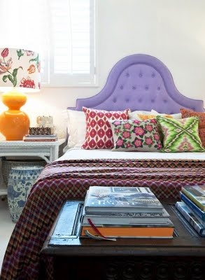 Bright and patterned pillows