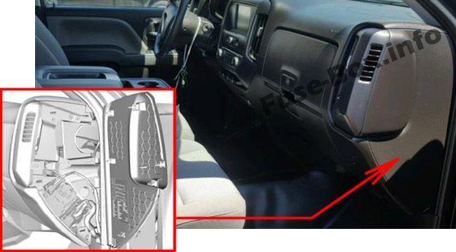Chevrolet Silverado Mk3 2014 2018 Fuse Box Location Fuse Box Chevrolet Silverado Chevrolet