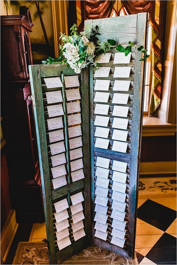 indoor wedding seating chart / http://www.himisspuff.com/creative-seating-cards-and-displays/3/