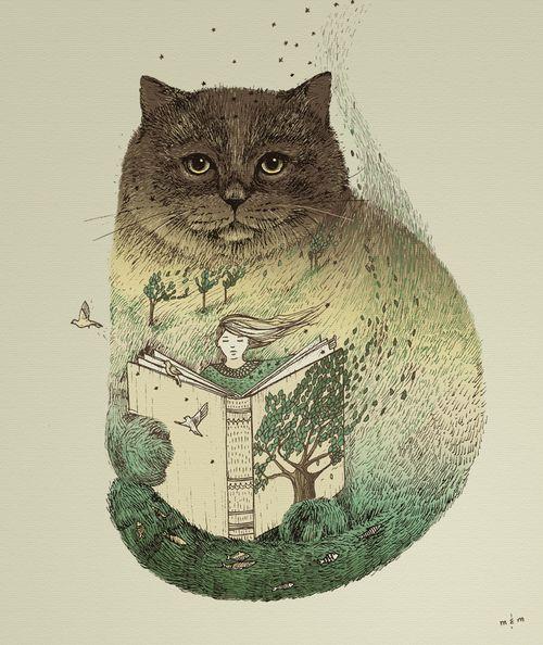 Lectura Otoño / Lectura otoñal (Ilustración de Lisa Aday)