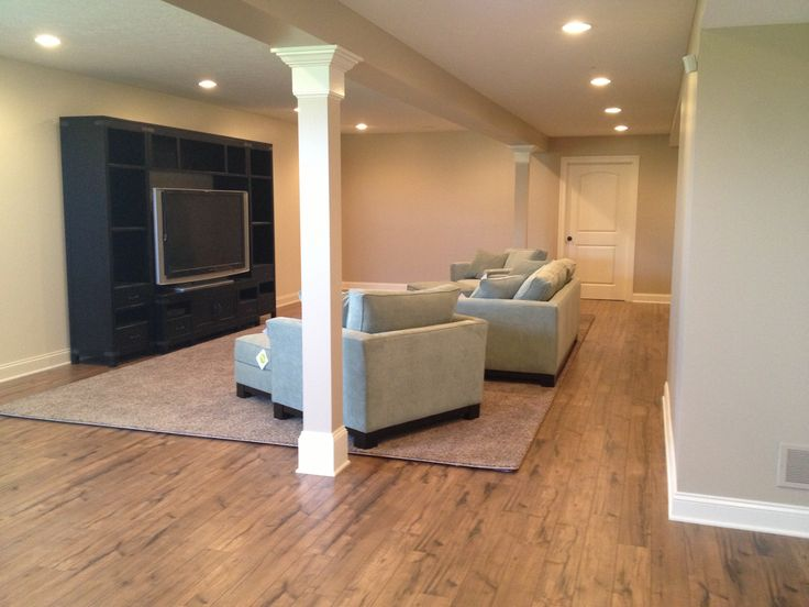 Great New Basement With Rustic Laminate Flooring! Nice Design