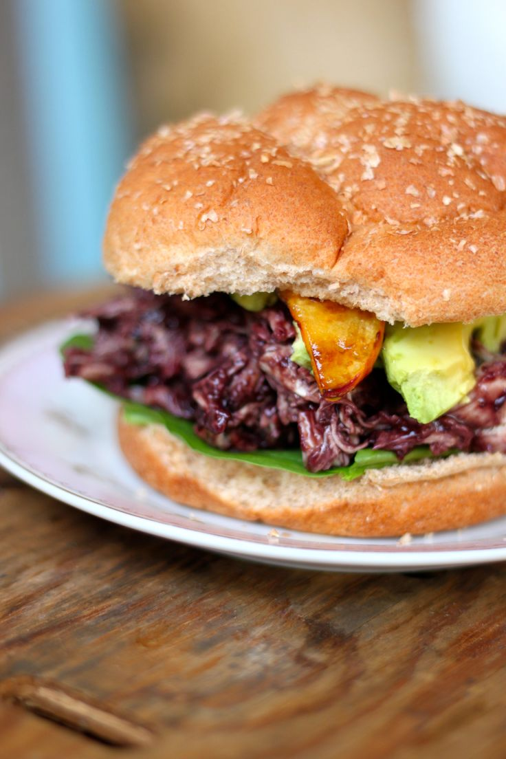 Clean eating | blueberry BBQ sauce | shredded chicken sandwich | the ...