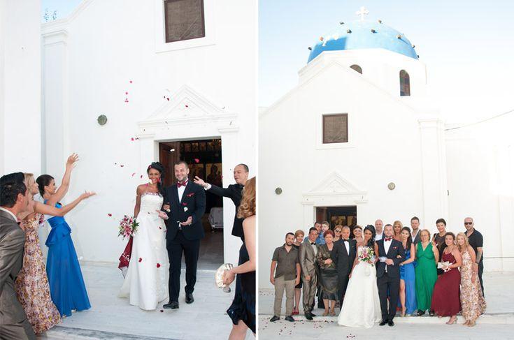Santorini Wedding: orthodox religious wedding ceremony