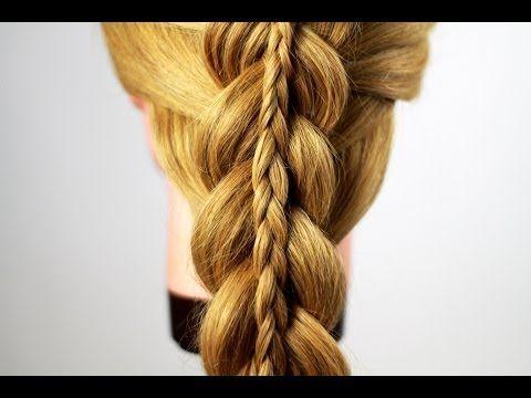 Двойная коса или коса в косе. Double Braiding - YouTube