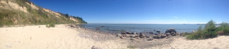 #Panorama #Aufnahme vom #Strand im #Ostseebad #Goehren auf der #Insel #Ruegen in #Mecklenburg - #Vorpommern