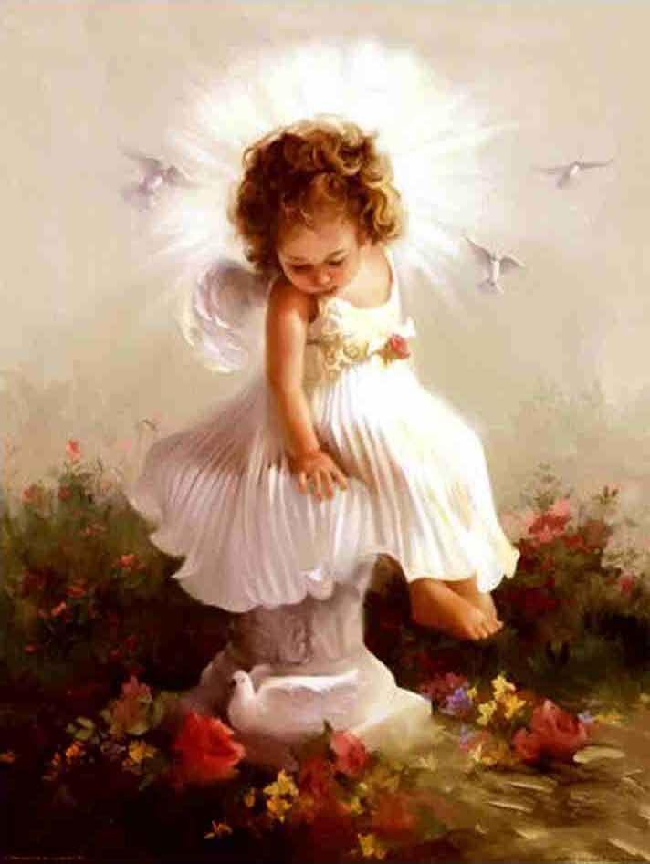 Акварельной, картинки доброе утро ангел