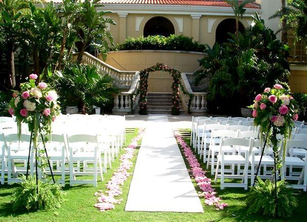 Bn Wedding Décor Outdoor Wedding Ceremonies: Elegant Garden Weeding Decorations