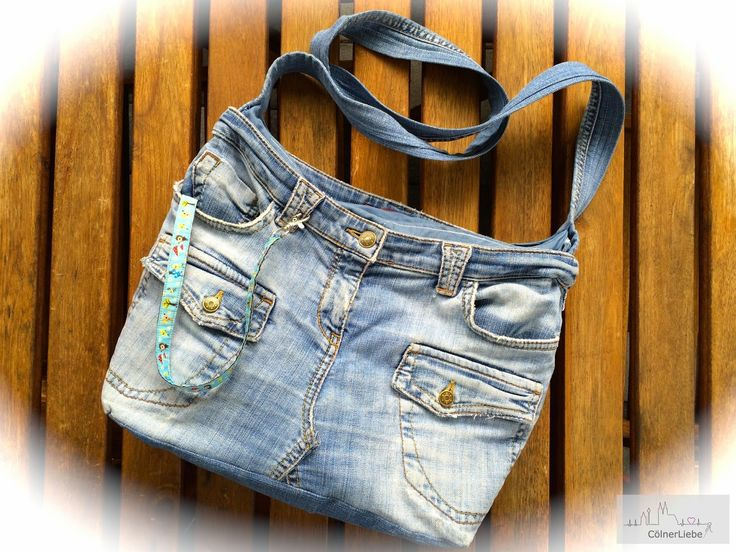 Tasche aus Lieblingsjeans / Bag made from favourite pair of jeans / Upcycling