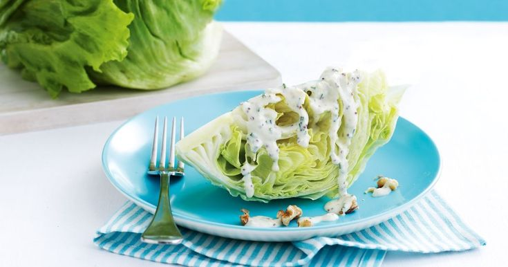The crisp leaves that make this lettuce so popular mean it's great in lots of dishes — salads, sandwiches, prawn cocktails and this elegant side.