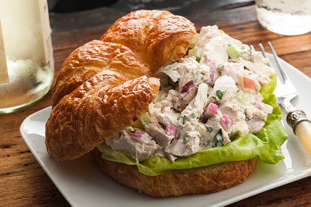 Tarragon Chicken Salad on a Croissant