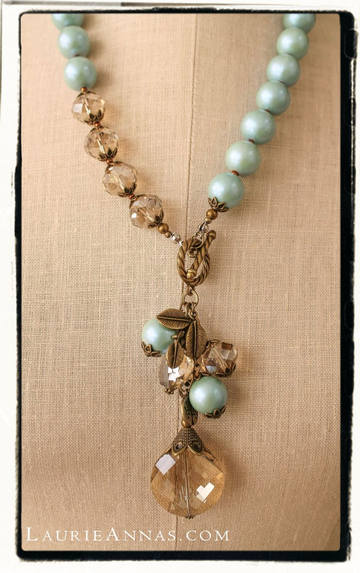 You're a gem and so is this vintage inspired pendant necklace. Available online at LaurieAnnas.com