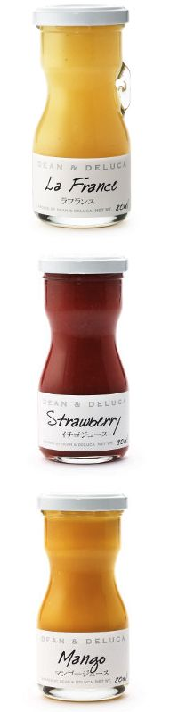 Dean & Deluca Japan ジュース  The hand lettered flavor designator gives these products a premium, small-batch appeal.