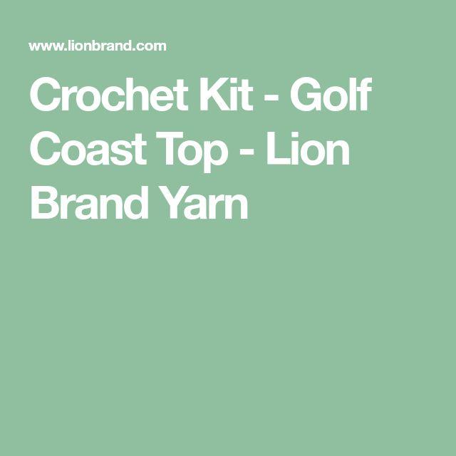 Crochet Kit - Golf Coast Top  - Lion Brand Yarn