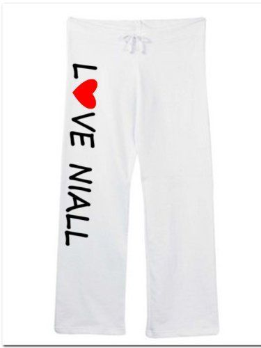 """Love Niall Cute Sweatpants White Size Medium by Mixapparelusa. $34.00. Size medium (inseam 32"""" waist 18"""" relaxed) junior ft. 100% pre-shrunk combed ring-spun cotton. Bella. Coverstitched drawstring waistband, straight wide open bottom leg. 7.5 ounce. A perfect pair of sweatpants for the music fan. A super quality and very comfortable product sold by us.....mixapparelusa."""
