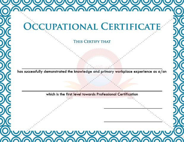 health and safety certificate template - 15 best images about occupational certificate templates on
