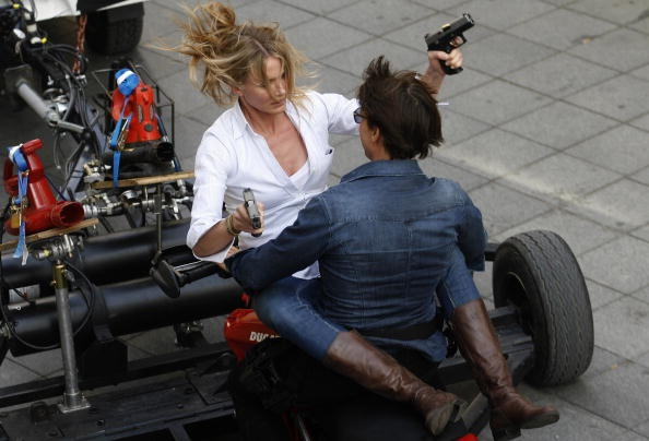 Can anyone identify the boots Cameran Diaz wore in 'Knight and Day' during the motorcycle scene?