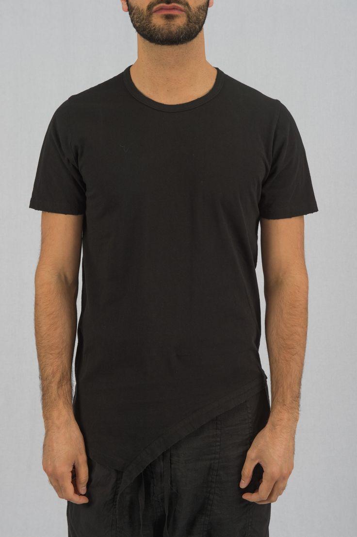 Black Side Cut T-Shirt